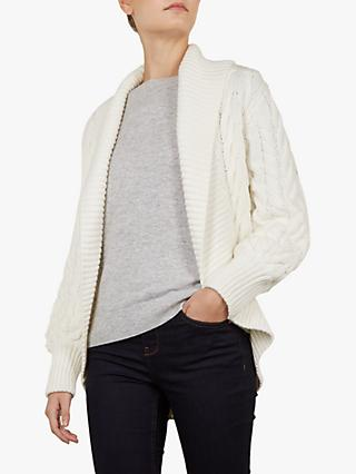 Ted Baker Filena Chunky Cable Knit Cardigan, Ivory