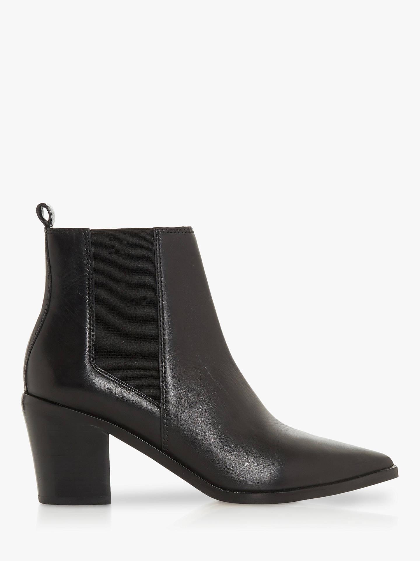 084b6559702c Dune Permit Block Heel Ankle Boots at John Lewis   Partners