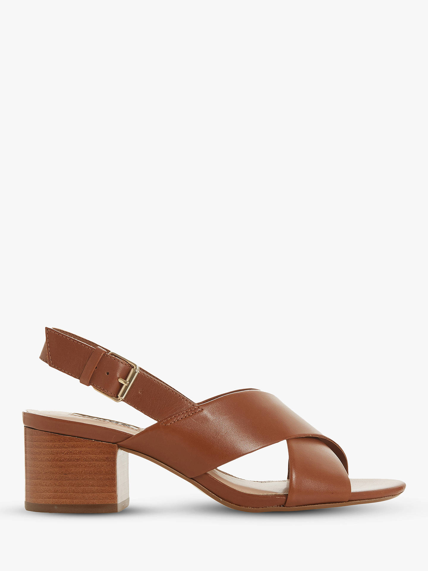new product exclusive deals details for Dune Indey Block Heel Cross Strap Sandals at John Lewis ...