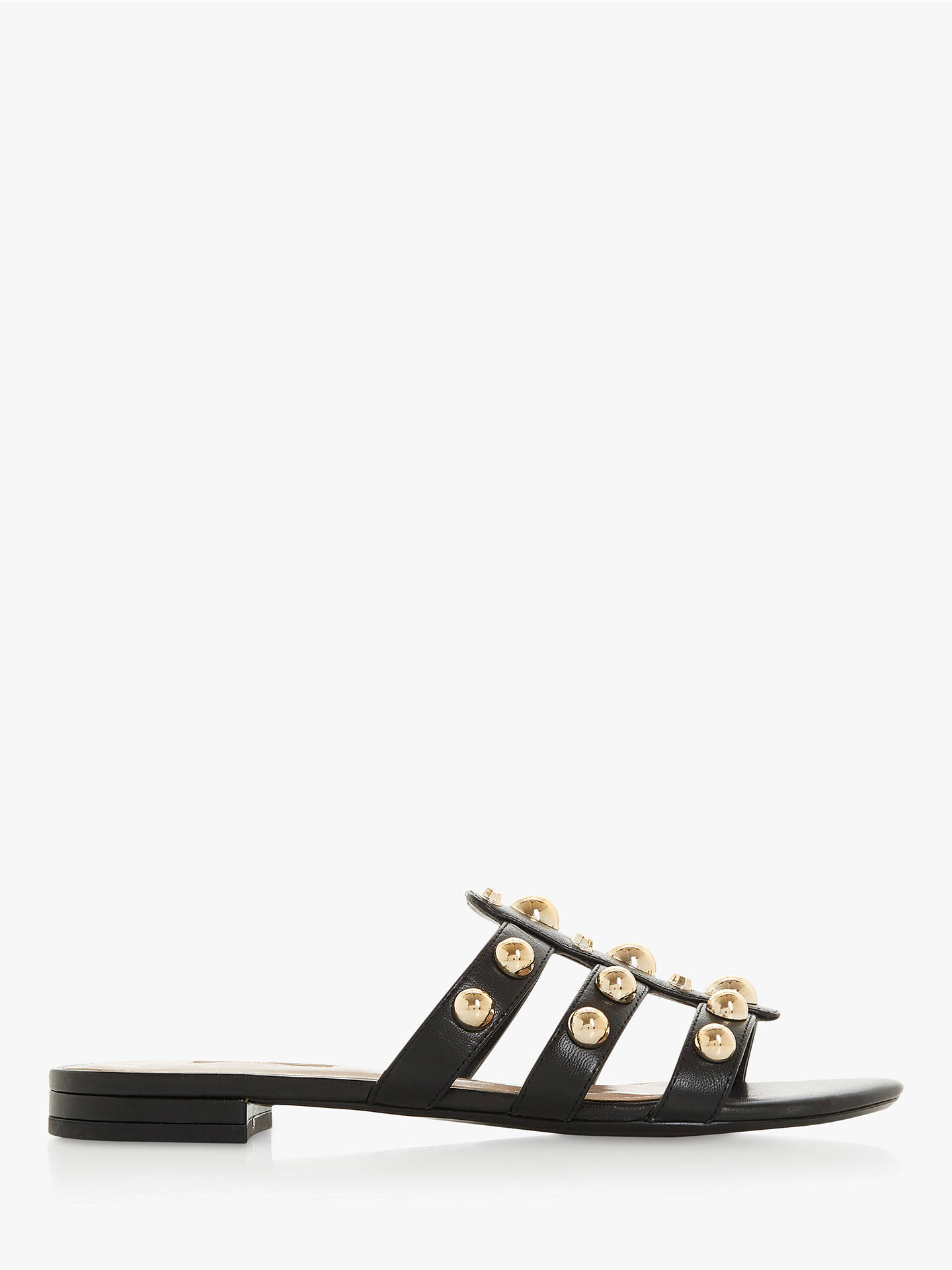 3778df452af305 Dune Nell Stud Slider Sandals at John Lewis   Partners