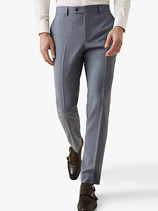 Reiss Worley Slim Fit Suit Trousers, Light Blue