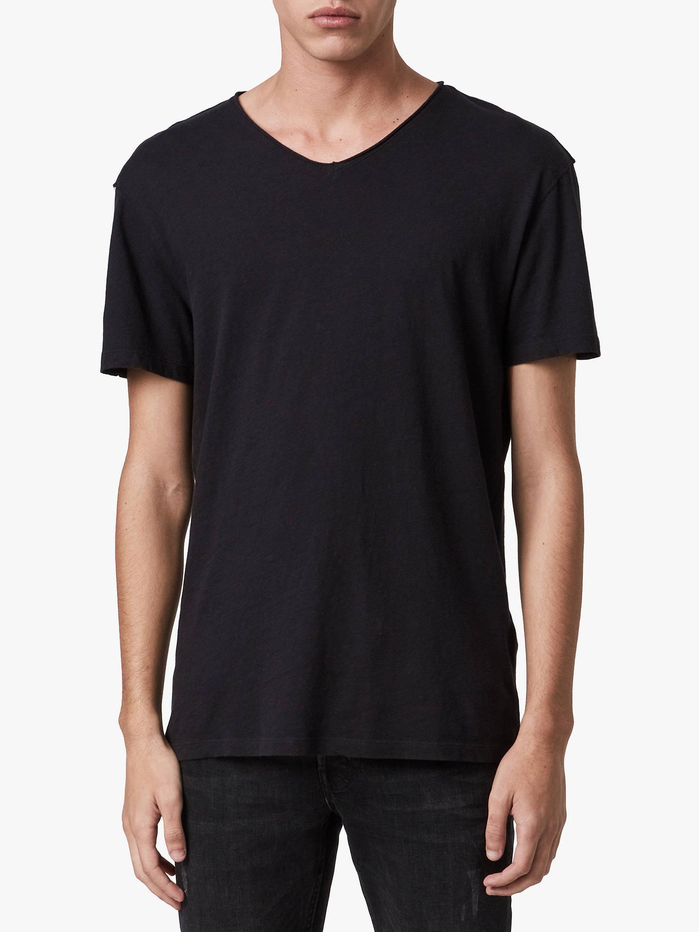 9add17df5885 AllSaints Figure V-Neck Short Sleeve T-Shirt at John Lewis & Partners