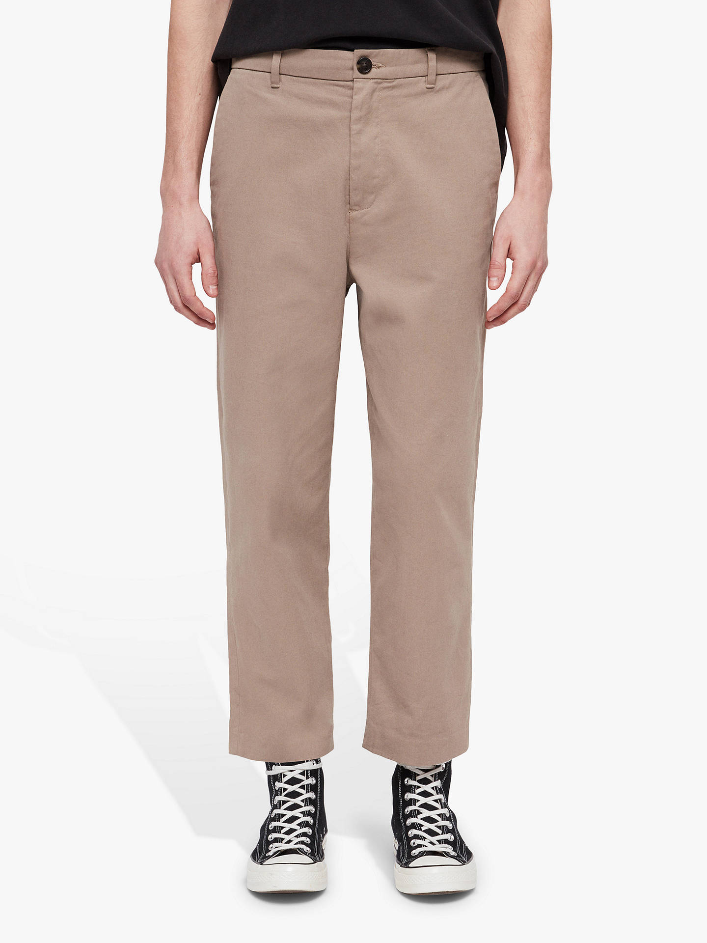 Buy AllSaints Muro Slim Fit Classic Chinos, Brown Camel, 28R Online at johnlewis.com