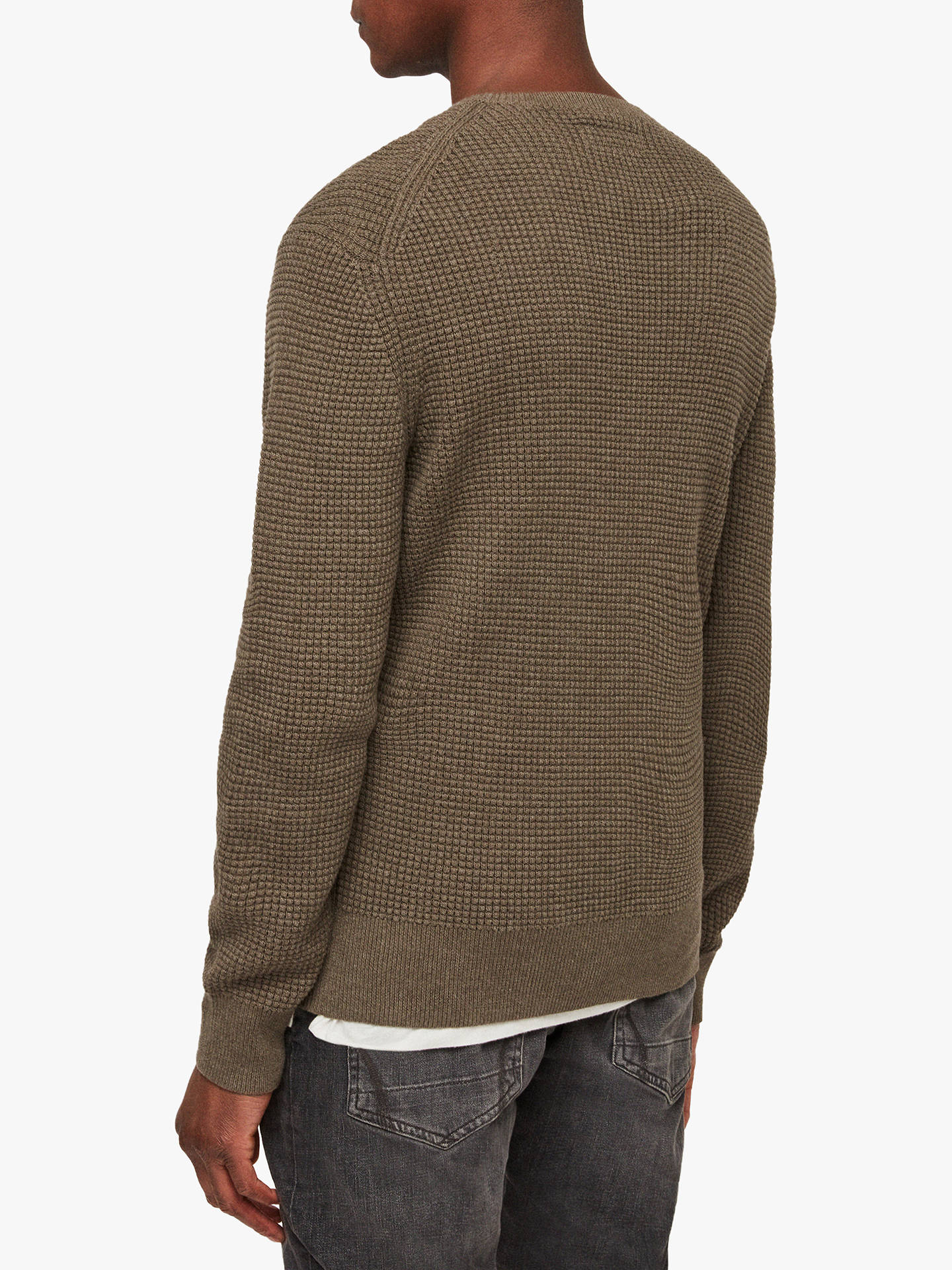 e68822a0eea AllSaints Wells Textured Crew Jumper at John Lewis & Partners