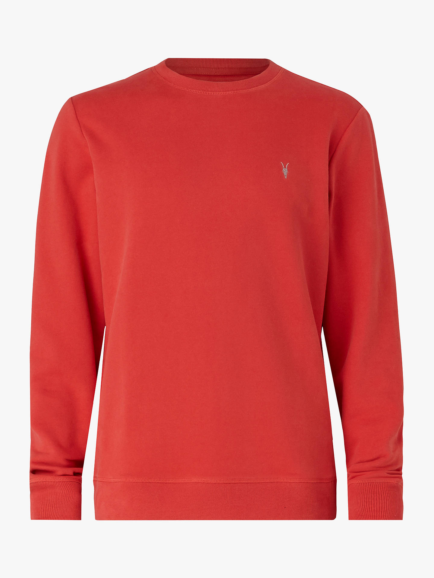 Buy AllSaints Raven Crew Neck Sweatshirt, Flash Red, XS Online at johnlewis.com