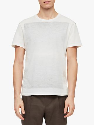 AllSaints Cadfer Faded Block Print T-Shirt, Chalk White/Black