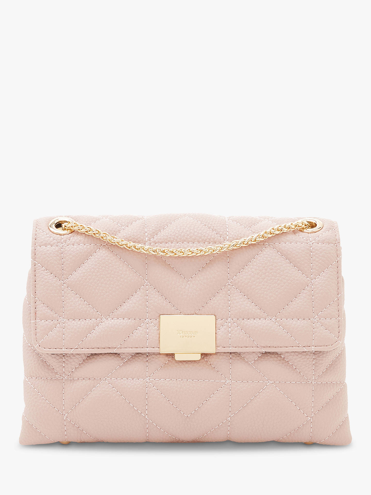 0aa7c0ceb0 Buy Dune Evangelina Quilted Clutch Bag, Blush Online at johnlewis.com ...