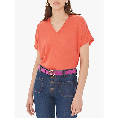 Gerard Darel Violette Linen T-Shirt, Orange