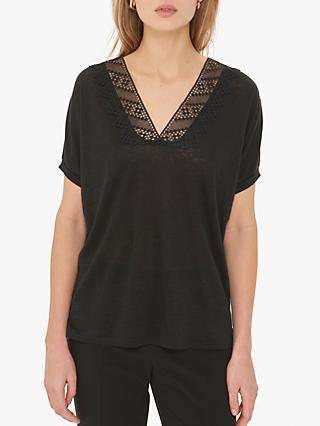 6ea6a78c0e3100 Gerard Darel Vivianna Linen T-Shirt