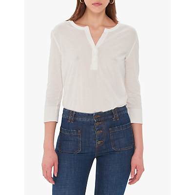 Gerard Darel Victoria Cotton T-Shirt, White