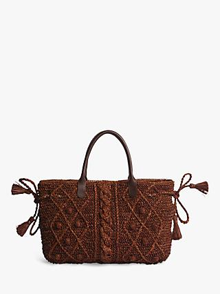 Gerard Darel Le 24 GD Marylin Cable Knit Bag, Camel
