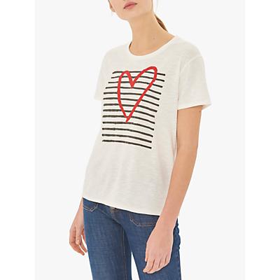 Gerard Darel Velina Cotton T-Shirt, White