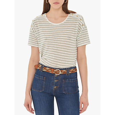 Gerard Darel Vanou Stripe T-Shirt,Green