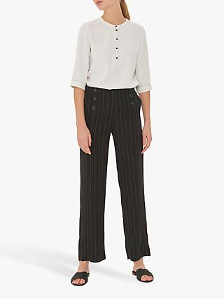 Gerard Darel Nona Wide Leg Trousers, Black
