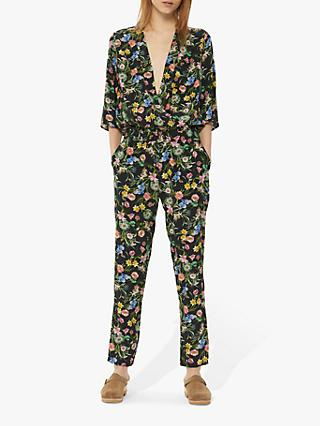 Gerard Darel Nathalie Straight Jumpsuit, Black/Multi