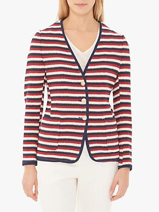 Gerard Darel Severine Stripe Jacket, Red/Blue