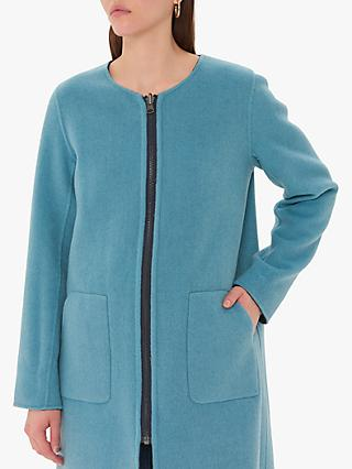 Gerard Darel Lexie Reversible Wool Coat, Blue
