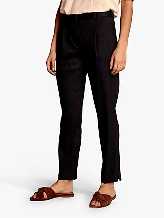 Gerard Darel Nadia Linen Trousers, Blue