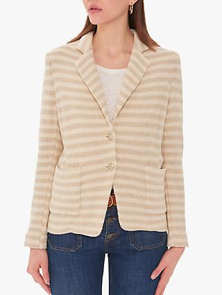 Gerard Darel Samantha Textured Stripe Jacket, Ecru