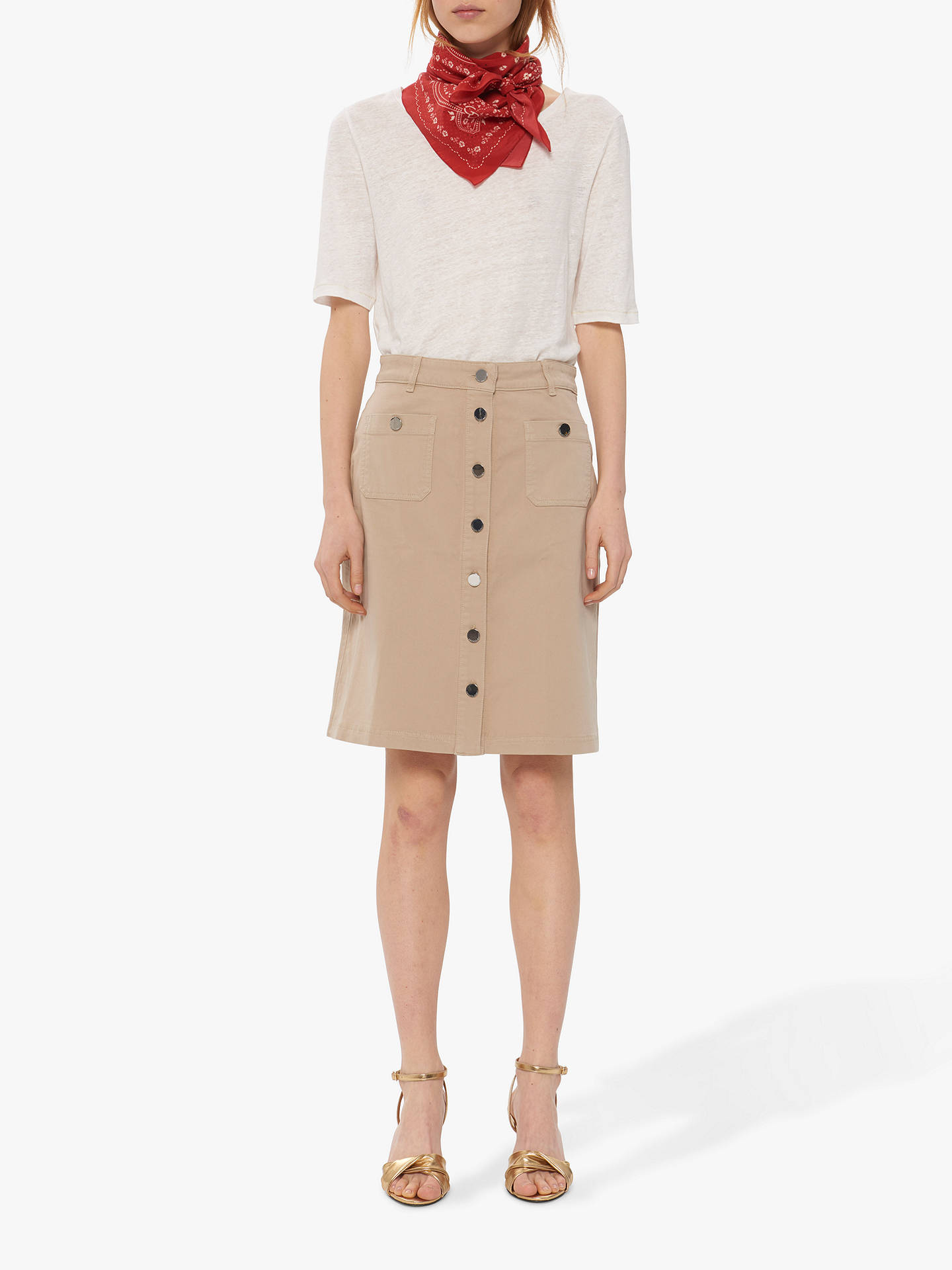 Buy Gerard Darel Ina Skirt, Beige, 10 Online at johnlewis.com