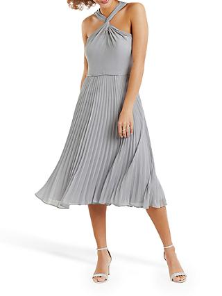 Oasis Twist Neck Midi Dress