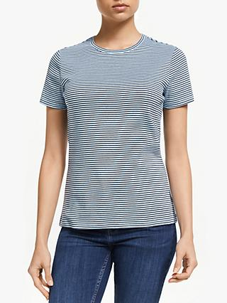 John Lewis & Partners Short Sleeve Crew Neck Stripe T-Shirt