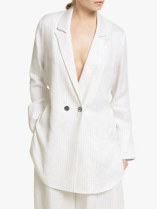 Modern Rarity Soft Striped Jacket, White