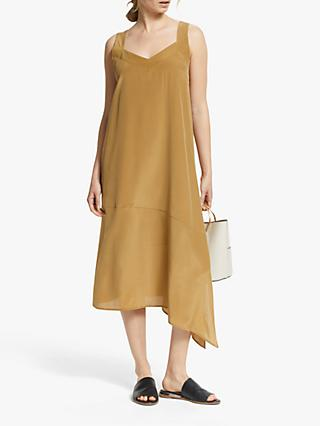 Modern Rarity Top Stitch Silk Cami Dress, Brown