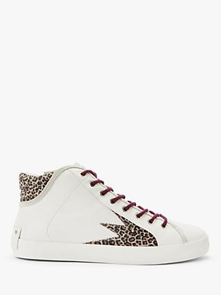Crime London Faith Hi Trainers, White Leather