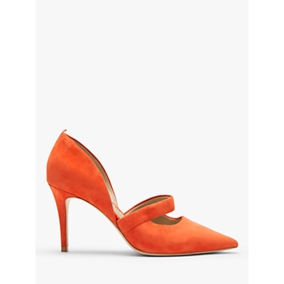 Boden Adrianna Two Part Court Shoes, Red Pop Suede