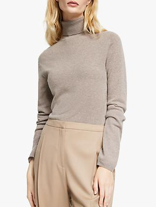 John Lewis & Partners Roll Neck Cashmere Jumper