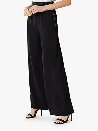 Coast Sicily Wide Leg Trousers, Black