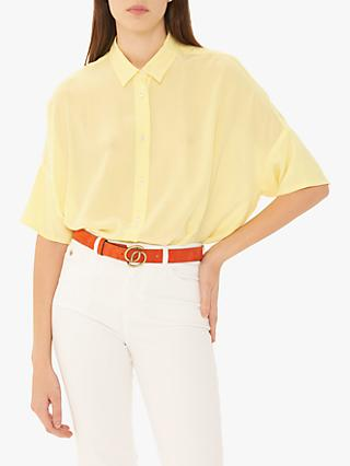 Gerard Darel Elio Silk Blouse, Yellow