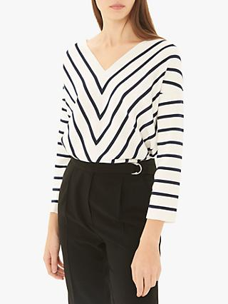 Gerard Darel Jasmine Stripe Jumper, White