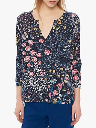 Gerard Darel July Floral Print Jumper, Navy/Multi
