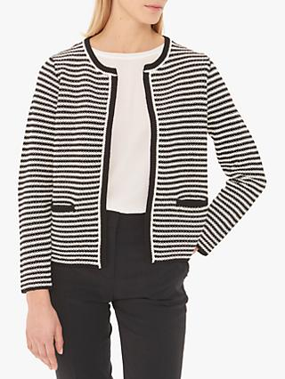 Gerard Darel Josephine Striped Pullover Cardigan, Black