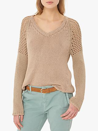 Gerard Darel Jelila Sheer Panel Jumper, Off White