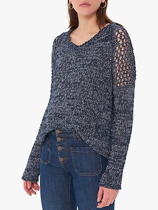 Gerard Darel Jerry Grid Knit Pullover Jumper, Navy