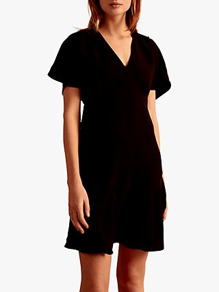 Gerard Darel Galatee V Neck Flared Dress, Black
