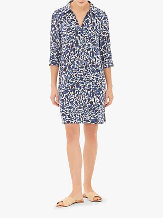 Gerard Darel Gilles Abstract Print Shirt Dress, Blue/Multi