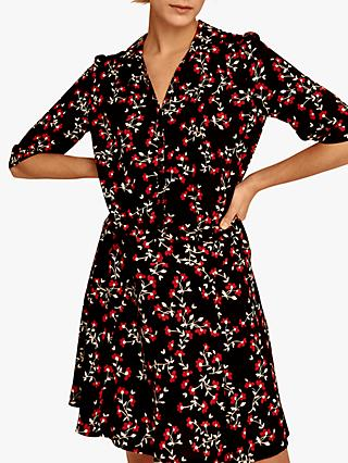 Gerard Darel Guilietta Floral Shirt Dress, Black