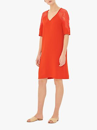Gerard Darel Geronia Lace Detail Tunic Dress, Orange