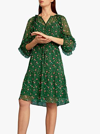 Gerard Darel Georgina Dress, Green/Multi