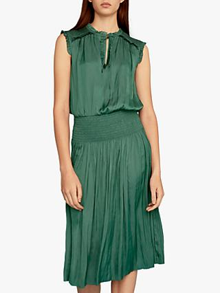Gerard Darel Gladis Ruffle Detail Flared Dress, Green