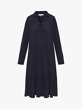 Gerard Darel Gianna Ruffle Hem Dress, Navy