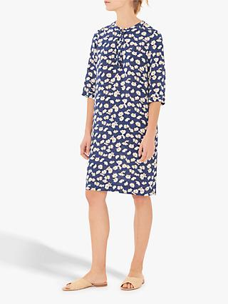 Gerard Darel Goldie Silk Daisy Print Dress, Blue/Multi