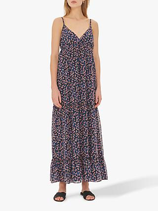 Gerard Darel Gimmy Floral Maxi Dress, Navy/Multi