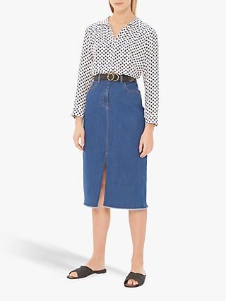 Gerard Darel Iden Denim Skirt, Blue