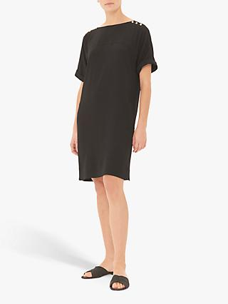 Gerard Darel Gabor Button Detail Tunic Dress, Black