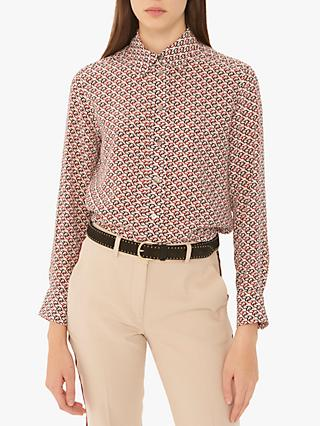 Gerard Darel Edith Silk Blouse, Ecru